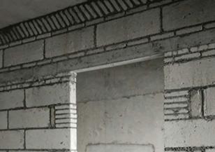 砌墙斜顶及门头工艺